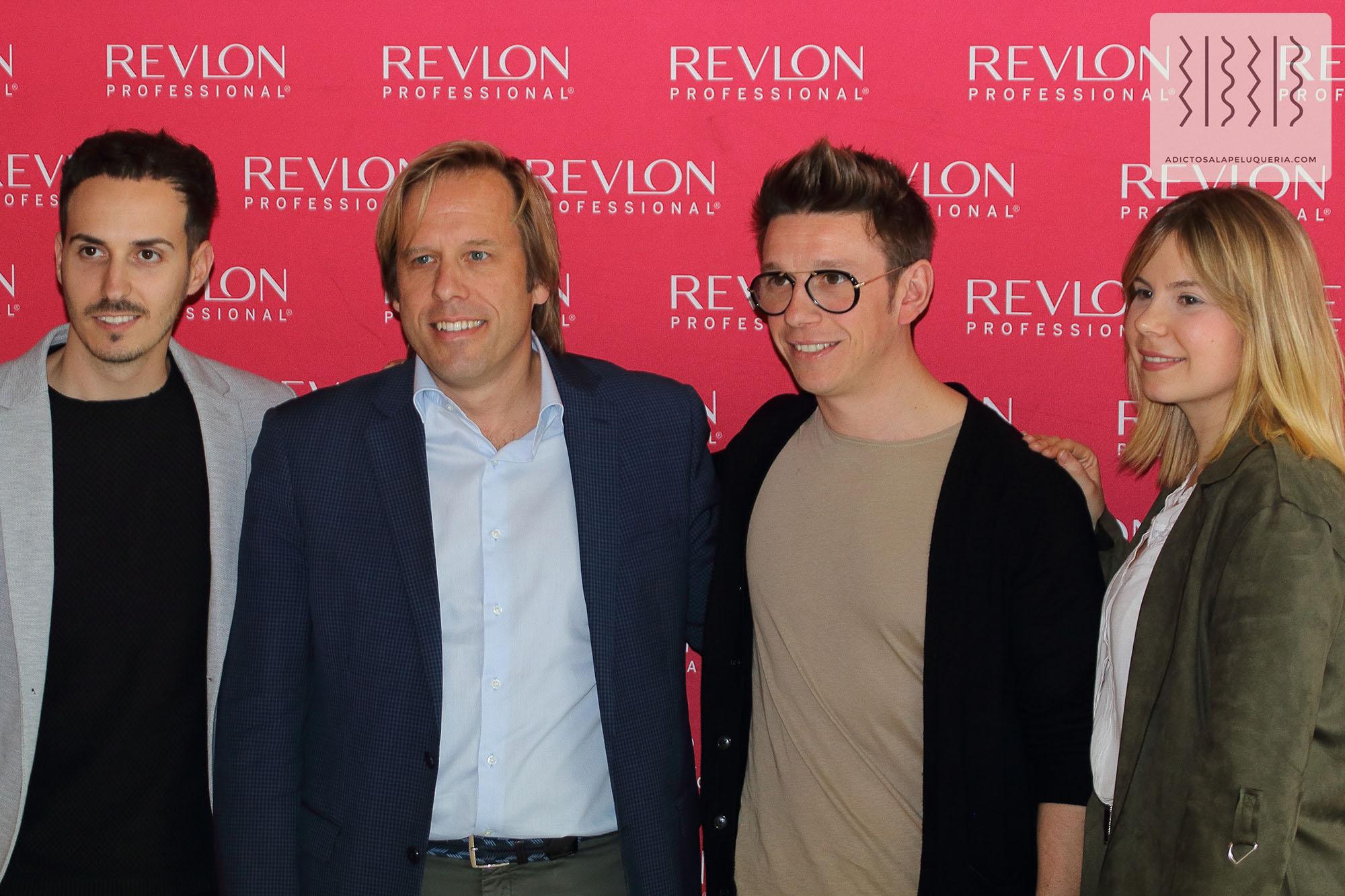 Equipo de Salones Carlos Valiente con Charles Waters de Revlon Professional
