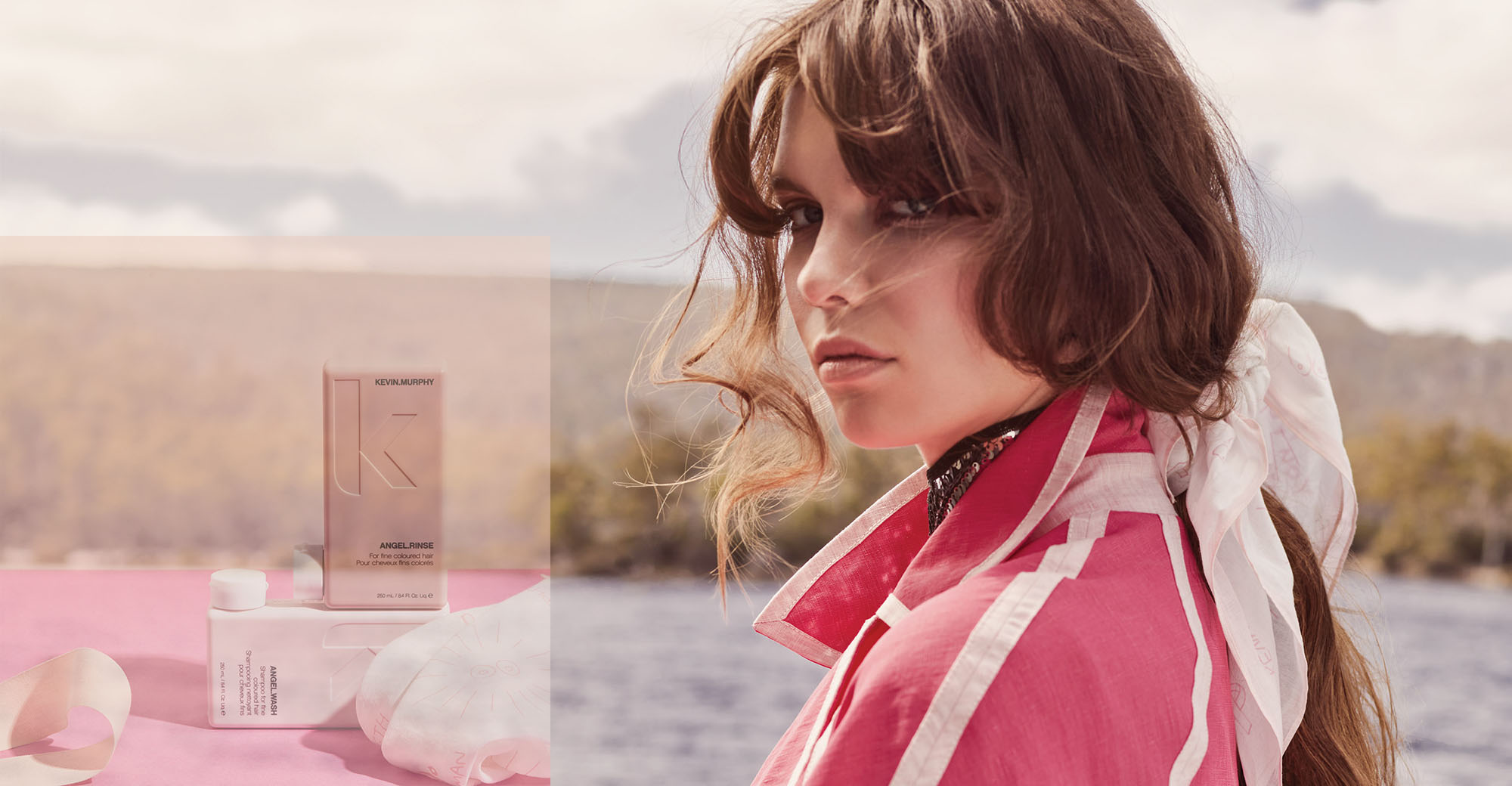 Kevin Murphy Pink Positive Scarf- tpl
